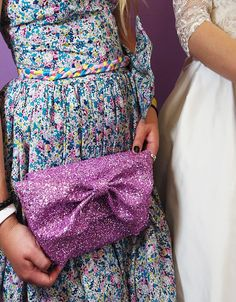 Pink Glitter Clutch Bag  Made to Order by makemeadress on Etsy, £95.00