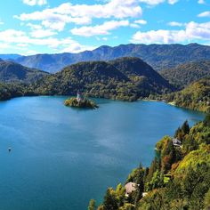 This place looks so like Indonesia... But it's not! This is the view from Bled castle in Slovenia. It's absolutely gorgeous