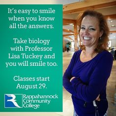 Its easy to smile when you know the answers. Take #BIO with Prof. Tuckey & you'll smile too http://ift.tt/29VGzW5  #transferclass #rappahannock #community #college #NNKVA #comm_college #rccfall #newkent #kinggeorge #warsaw #Gloucester #nnk #northernneck #glenns #northernneckva #middlepeninsula #midpenva