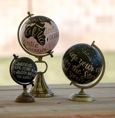 Beautiful hand-painted globes for anyone with wanderlust