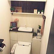 Bathroom,100均,DIY,フェイクグリーン,タイポグラフィ,トイレタンク隠し DIYに関連する他の写真