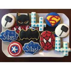 Superheroes for Super Silas! Happy birthday little man! Wish we were there to celebrate! We love you!! ❤️ #SugarCoatedDesserts