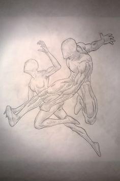 Studio di pose dinamiche, matita - Dynamic poses, pencil