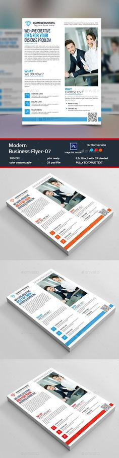 Modern Business Flyer Template PSD #design Download: http://graphicriver.net/item/modern-business-flyer07/14280681?ref=ksioks