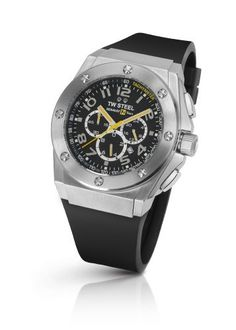 TW Steel Men's TW 680 CEO Tech Black Rubber Chronograph Dial Watch TW Steel. $243.27. Water-resistant to 330 feet (100 M). Stainless steel case black rubber band. Black chronograph dial. Mineral crystals. Quartz movement. Save 71%!