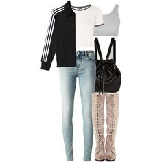 Malia Inspired Outfit with Requested Jacket by veterization on Polyvore featuring moda, Topshop, IRO, adidas, Free People and Forever 21