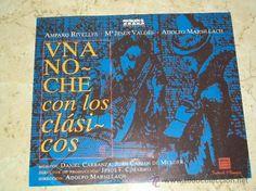 """""""Una noche con los clásicos"""" Amparo Rivelles, Mª Jesús Valdés y Adolfo Marsillach - 1996"""