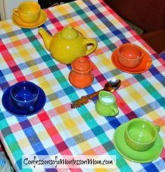 Montessori Tea Party Activities