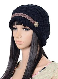 ea5a741c11c ieasysexy Pure Color Winter Cap Beanie Ski Hat Baggy Slouchy Beret  Snowboarding Crochet Knitted Hat Women s