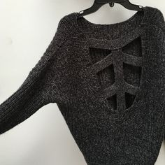 Adorable cut-out back sweater! UO size small sweater with cut out pattern in back. In good condition only worn once!! Urban Outfitters Sweaters