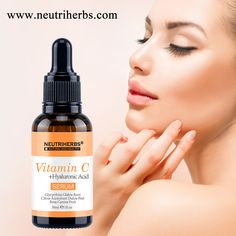 Neutriherbs Best Vitamin c Serum Antioxidant formula protects skin from environmental stressors Lightens and Brightens complexion Fades sun spot and discoloration Hydrates and moisturizes skin Naturally lifts and firms No Parabens, no alcohol Best Skin Serum, Sun Spot, Best Vitamin C Serum, Anti Aging Serum, Hyaluronic Acid, Good Skin, Natural Skin Care, Vitamins, Moisturizer