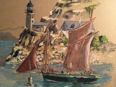 Painting bretagne watercolor peinture François Bro de Comères