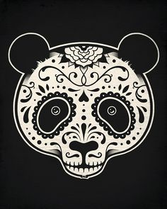 Day of the Dead Panda–Enkel Dika OMG yes! it even has a mustache lol! Day of the Dead Panda–Enkel Dika OMG yes! it even has a mustache lol! Tattoo Studio, Creative Illustration, Illustration Art, Josie Loves, Panda Art, Panda Panda, Panda Head, Day Of The Dead Skull, Panda Love