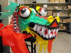 Smart Fab Chinese dragon display detail.