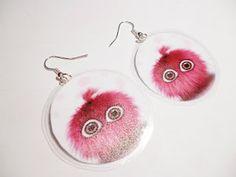 Kedy kreatív termékek: Pink szőrmók fülbevaló