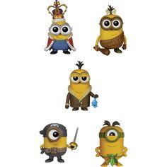 Funko - Minions Pop! Movie Vinyl Collectors Set: Minion King, Cro-Minion, Bored Silly Kevin, Eye Matie, Au Naturel - Multi, G847944000785