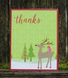 Designs by Dragonfly: Thank You Card. #EllenHutsonLLC #EssentialsbyEllen #PinSightsChallenge #FancyThanks
