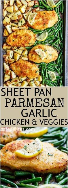 Sheet Pan Lemon Parmesan Garlic Chicken & Veggies