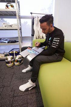 In the Paddock w/Lewis Hamilton ahead of the 2015 #F1 Formula 1 Monaco Grand Prix.