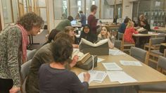 Lively @CRECSCardiff workshop with @jenniebatchelor from the @ladysmagproject, exploring our periodicals collection.