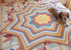 Granny Star an Eight Point Round Ripple Crochet by TheHookHound