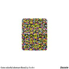 Cute colorful abstract floral card holder