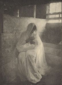"""""""The Manger,"""" 1899, Gertrude Kasebier. University of Delaware Collection, gift of Mason E. Turner Jr, 1980. Featured in March 2013 article, """"Gertrude Kasebier: Two Exhibitions In Delaware."""""""