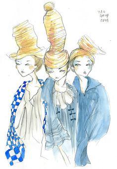 tao comme des garçons spring 2008 by Eri Wakiyama