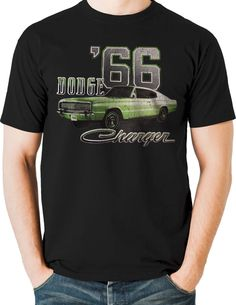 41736d7fc86 Dodge T Shirt 1966 Charger Hemi Muscle Car Mens Sizes Small to 6XL and Tall