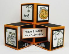 Fancy Fold Cards, Folded Cards, Fall Cards, Holiday Cards, Halloween Pop Up Cards, Halloween 2020, Popup, Pop Cubes, Dawns Stamping Thoughts