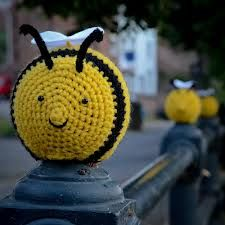 yarn bombing crochet bee