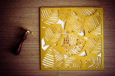 Convite Rendado Folhas | Ana Von Stan Paper Design | Elo7