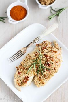 Baked Tilapia Recipe with Pecan Rosemary Topping and more healthy baked fish recipes on MyNaturalFamily.com #fish #recipe