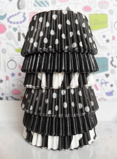 Black and White Cupcake Liners
