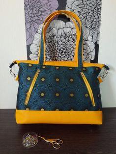 Sac Java jaune et bleu d'Anais - Patron Sacôtin