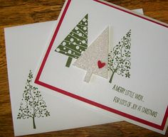 Christmas card using SU's Festival of Trees www.crazystampinglady.blogspot.com Maureen Rauchfuss