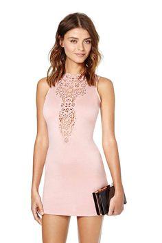 Take Notice Crochet Dress - Blush | Shop Dresses at Nasty Gal