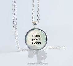 Beachy Rustic Find Your Voice Art Pendant by ThePendantPlanet