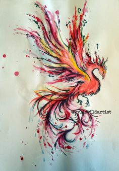 Water color tattoo design, redesign of clients drawing by Kylie Wild Heslop Artist