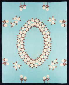 Daisy Chain pattern by Ruth Augustyn made in #Wisconsin in 1938. (IQSCM 1997.007.0389) #quilt #kit #applique #embroidery #JamesCollection