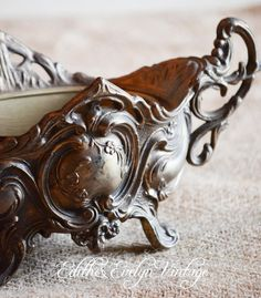 Antique French Jardiniere Fernery Planter Brass by edithandevelyn on Etsy
