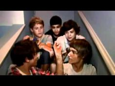 One Direction - funny moments.  I really hope that for the video diaries on the WWAT they just sit on a stair case and be themselves. That's all I ask for. <3