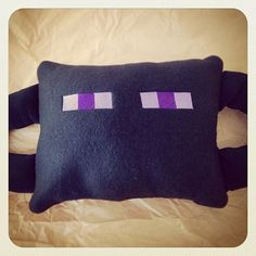 This custom Enderman hugger pillow was made to complement a Minecraft collection.  Message me to order yours today!