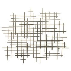 "Inspiration for an afternoon DIY wall art project for a fraction of the cost --- Mid-Century Metal Wall Décor Gold 36x30"" - Threshold™ : Target"