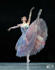 "Such a pretty costume! © Lindsay Thomas Brittany Reid as ""Summer"", ""Cinderella"", Pacific Northwest Ballet"
