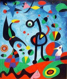 Juan Miro Paintings - The Best Picture of Painting Famous Abstract Artists, Famous Artists Paintings, Joan Miro Pinturas, Joan Miro Paintings, Art Paintings, Magritte Paintings, Art Du Monde, Wassily Kandinsky, Elements Of Art