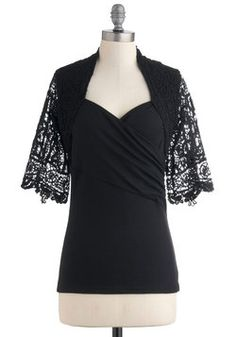 Love the lacy sleeve detail on this top. Reminds me of Spain.  Chic Mystique Top, #ModCloth
