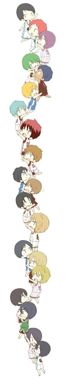 Anime Chibi, Kawaii Anime, Manga Anime, Anime Art, Kuroko Chibi, Kuroko No Basket, Basketball Anime, Love And Basketball, Basketball Players