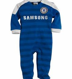 Chelsea FC Boys Blue Sleepsuit - 6-9 Months The Chelsea Football Club Baby Sleepsuit with Feet and White V-Neck is designed to replicate the premiership champions home kit for season 2010/2011 and will keep baby snug and safe at night. This sle http://www.comparestoreprices.co.uk/baby-clothing/chelsea-fc-boys-blue-sleepsuit--6-9-months.asp