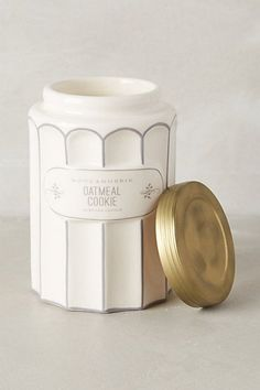 Anthropologie Boulangerie Jar by Illume Tall Oatmeal Cookie CANDLE New! MSRP $26 #BoulangerieforAnthropologie